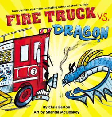 Fire truck vs. dragon by Barton, Chris